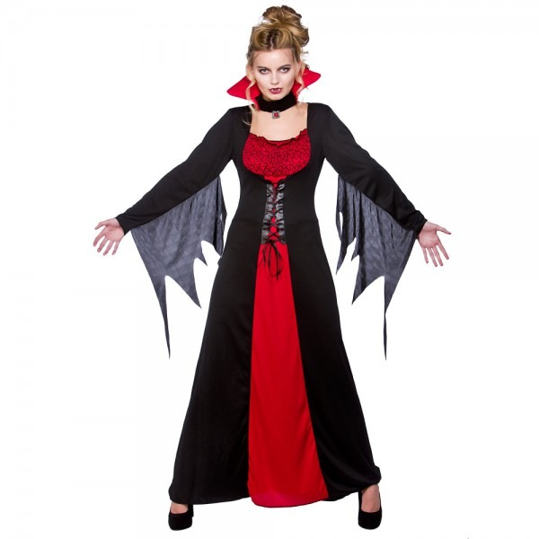 Adults Vampire Halloween Fancy Dress Costume Vampiress Outfit 5