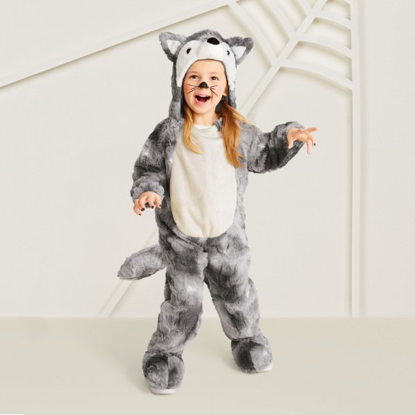 Toddler Plush Wolf Halloween Costume 2t