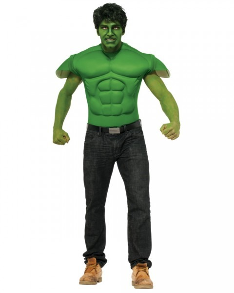 Adults Mens Marvel Comics Avengers The Hulk Costume Muscle Shirt