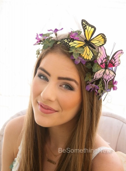 Butterfly Headpiece Mother Nature Halloween Flower Crown Costume