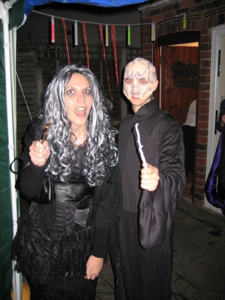 Bellatrix Lestrange And Lord Voldemort In A Magic Wand
