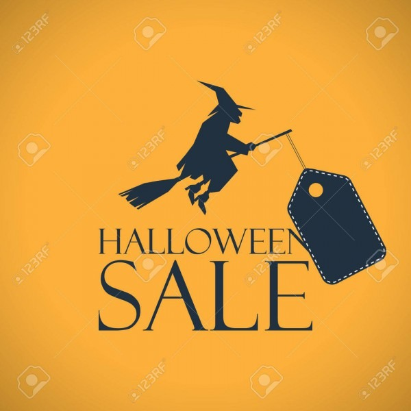 Halloween Sale Background  Seasonal Clearance Poster  Discounts