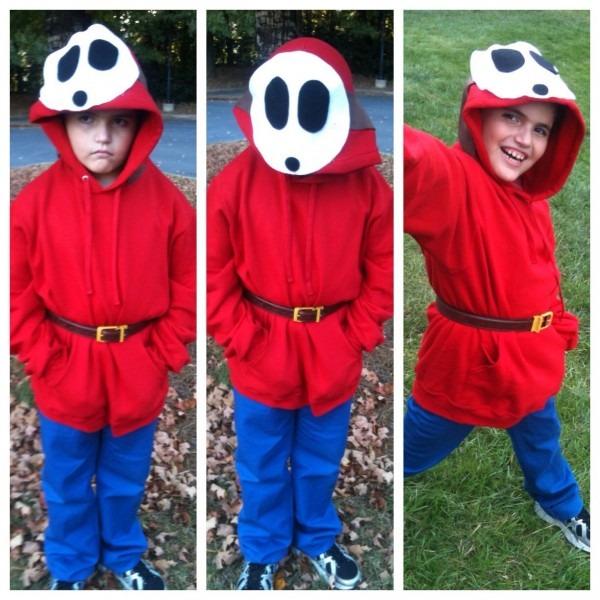 Homemade Shy Guy Costume  Halloween Costume  Mario Brothers  Mario