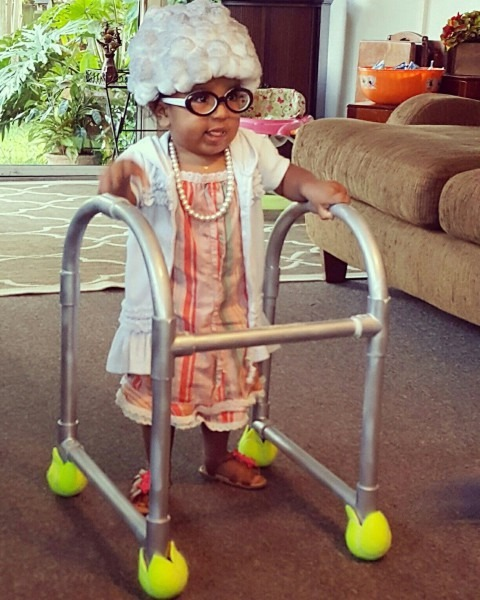 Old Lady Costume Baby Kids Diy Halloween