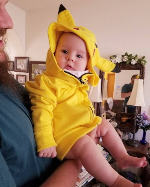 Little Sparrow Rocking Her  Pikachu Hoodie!  Hoodie  Baby  Cosplay
