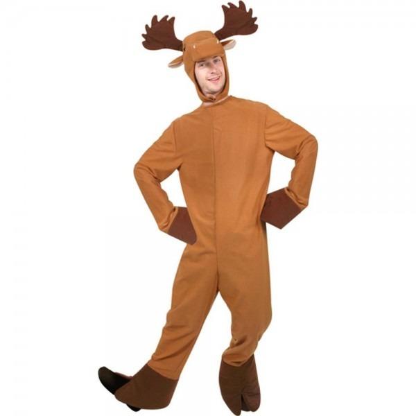 Amazon Com  Moose Adult Costume  Clothing