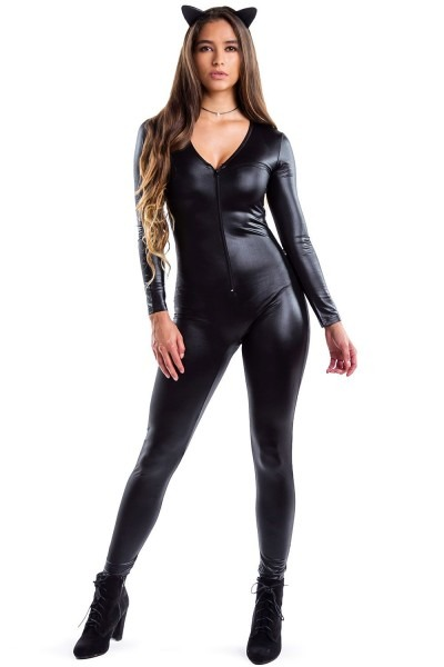 Black Cat Costume  Women's Adult Halloween Black Cat Costumes