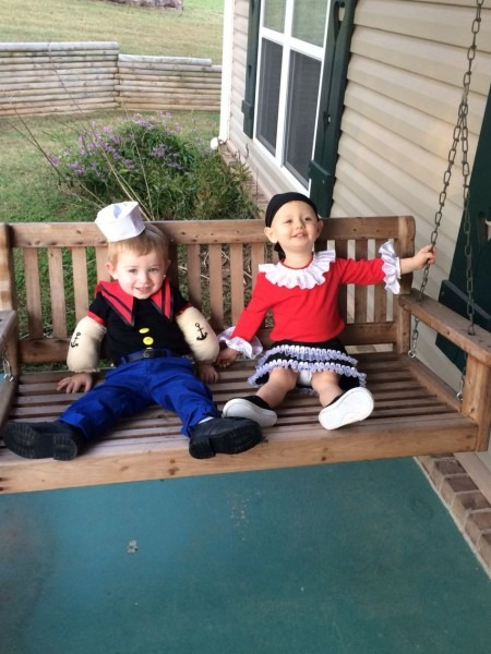Popeye And Olive Oyl Costume For Kids