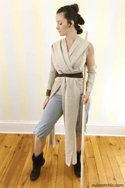 Diy Rey Halloween Costume (star Wars) & Hair Tutorial
