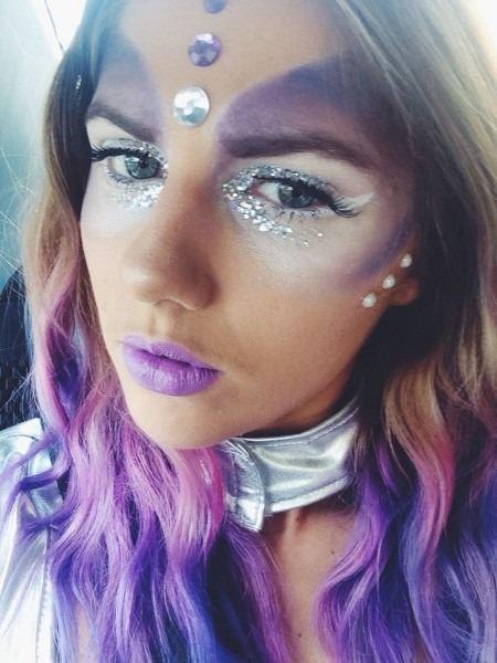 Space Alien Costume Makeup