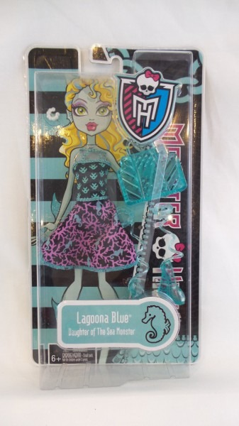 Monster High Lagoona Blue Fashion Pack Dress Purse Shoes Daughter
