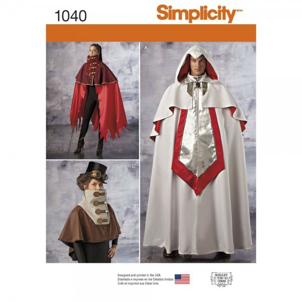 This Unisex Costume Features A Cape In Three Lengths That Will