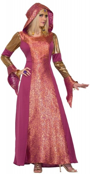 Ladies Long Hooded Medieval Arabian Queen Halloween Fancy Dress
