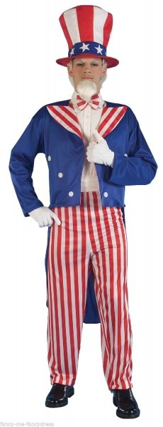 Mens American Usa Uncle Sam Independance Day 4th July Fancy Dress
