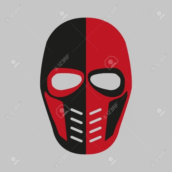 Mask Of The Comic Book Supervillain  Vector Illustration Royalty