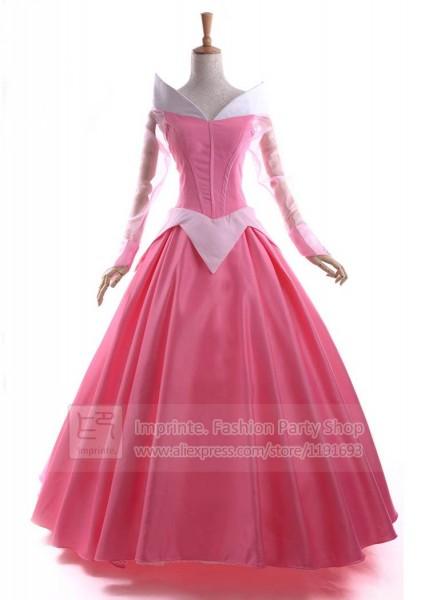 Sleeping Beauty Aurora Costume Adult Dexlue With Cape A Line Ball