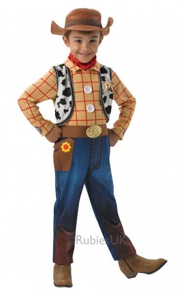 Kids Disney Deluxe Toy Story Cowboy Woody Boys Fancy Dress Childs