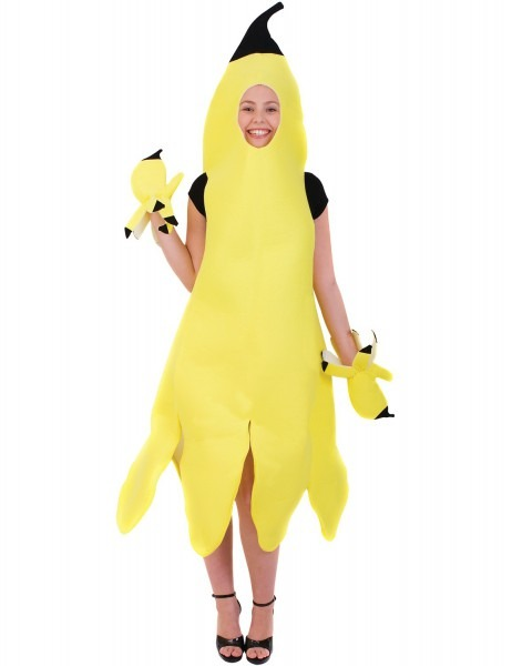Womens Banana Girl Novelty Food Fancy Dress Costume 5060401250256