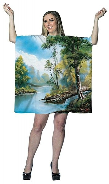Amazon Com  Bob Ross  Painting Tree Tunic Dress  Clothing