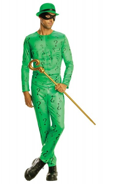 Amazon Com  Rubie's Official The Riddler Batman Villain, Adult
