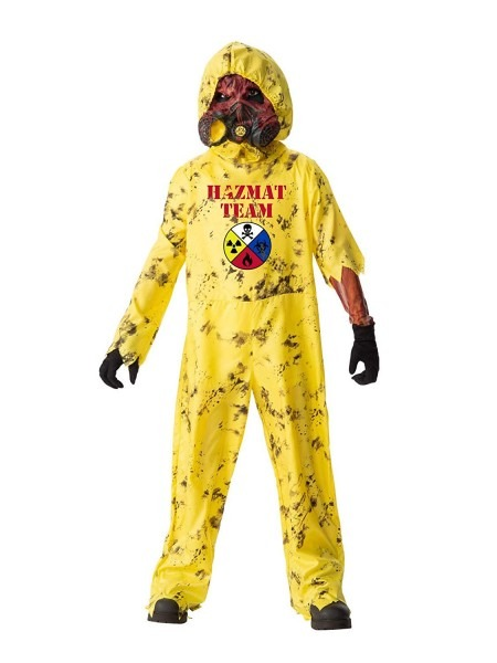 Amazon Com  Boys Hazmat Hazard Costume M  Clothing