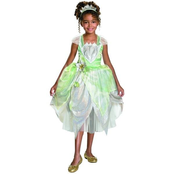 Amazon Com  Deluxe Princess Tiana Child Costume