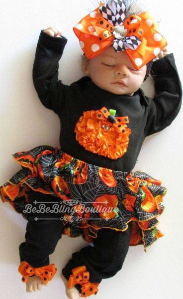 Baby Girl Halloween Costume Outfit Bloomer Set Newborn Girl