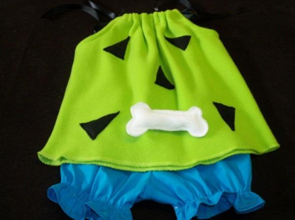 Halloween Costume Pebbles Flintstone Custom Sizes 3mo