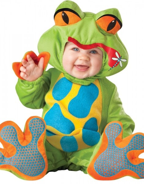 Lil' Tree Frog Baby Toddler Infant Froggy Jumpsuit Costume S