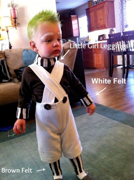 Diy Toddler Oompa Loompa Costume