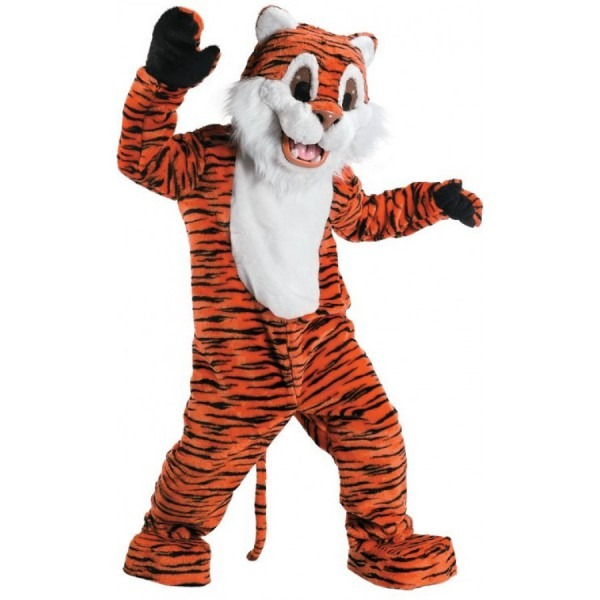 Tiger Plush Mascot Costume
