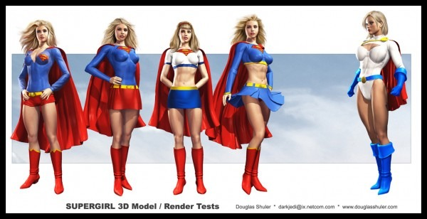 Classic Costumes In Vendors, Supergirl Outfits!