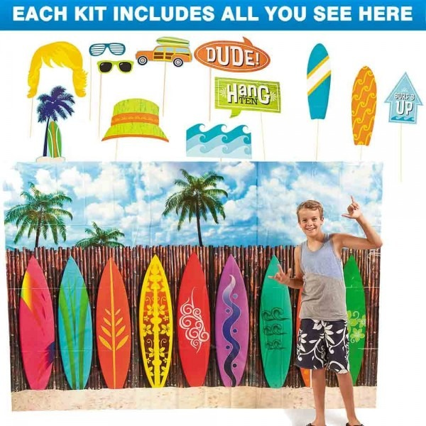Amazon Com  Costume Supercenter Surf Party Photo Booth Kit  Toys