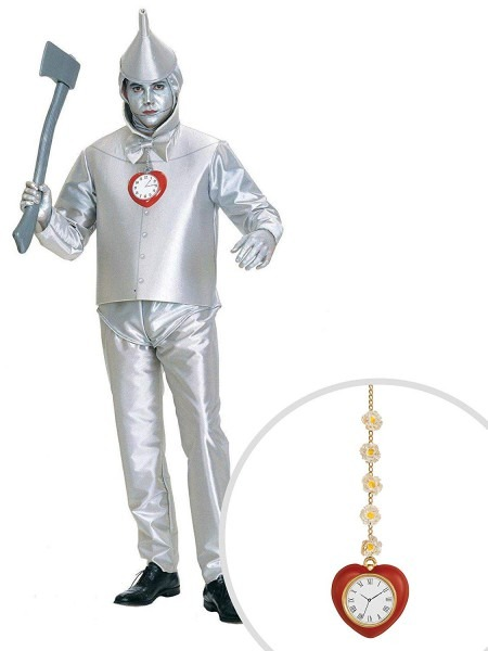 Amazon Com  Wizard Of Oz Tin Man Adult Plus Size With Clock  Clothing