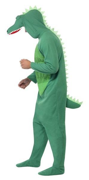 Amazon Com  Smiffy's Men's Crocodile Costume All In One With Hood