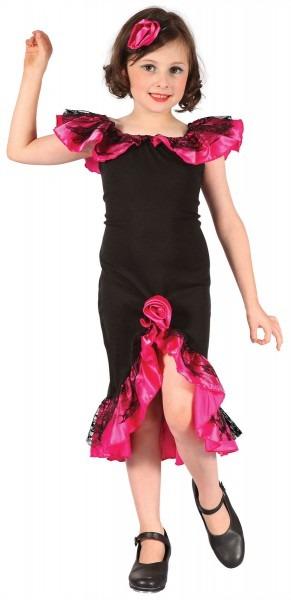 Rumba Girl, Black Pink, Spanish, Spain, Salsa Girls Fancy Dress