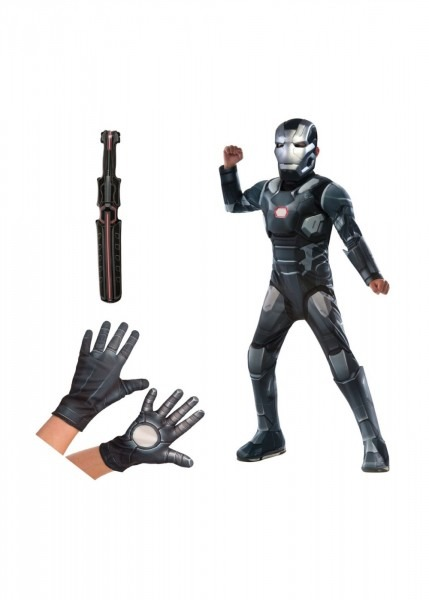 War Machine Civil War Costume Gloves And Baton Boys Set