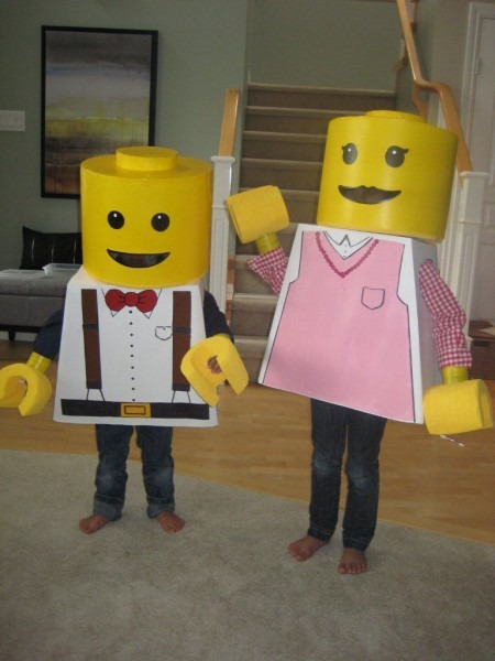 Coolest Homemade Lego Boy And Girl Minifig Couple Costume