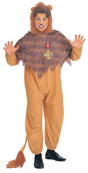Mens Wizard Of Oz Cowardly Lion Costume Movie Costumes