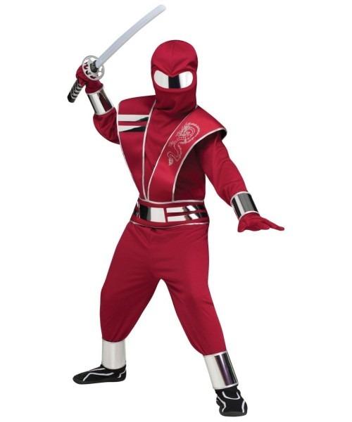 Mirror Mask Futuristic Ninja Boys Costume