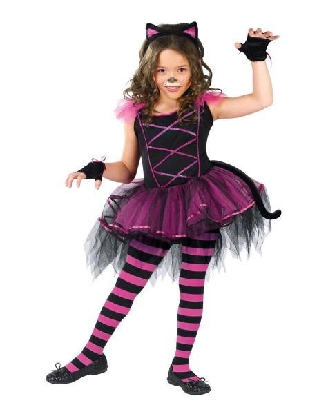 Girls Cat Costume Meidum 8