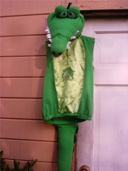 Disney Peter Pan Tick Tock Croc Crocodile Hook Plush Costume & Hat