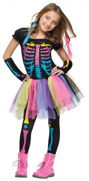 New Funky Punk Skeleton Child Costume