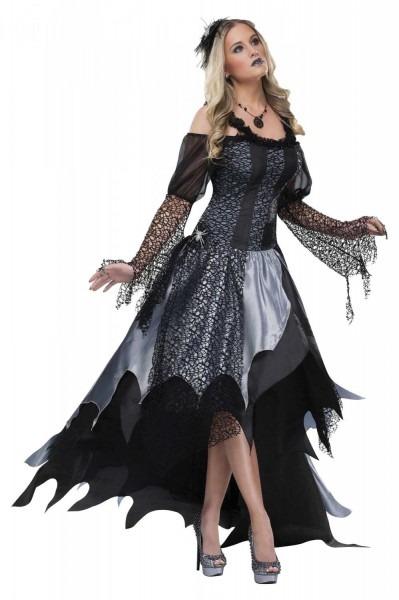 High Quality Black Widow Spider Queen Gothic Evil Halloween Womens