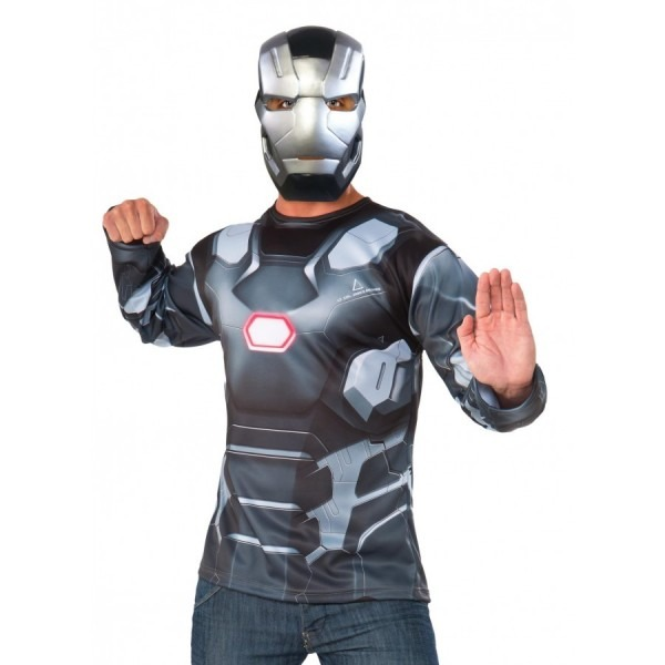 War Machine Mens Costume Top And Mask
