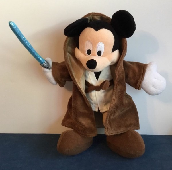 Disney Parks Mickey Mouse Star Wars Jedi Plush W  Lightsaber 10