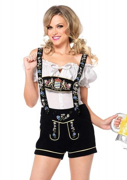 Amazon Com  Leg Avenue Women's Oktoberfest Lederhosen Costume