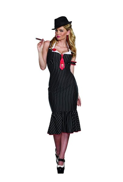 Amazon Com  Dreamgirl Women's Deadly Dames Pinstripe Gangster