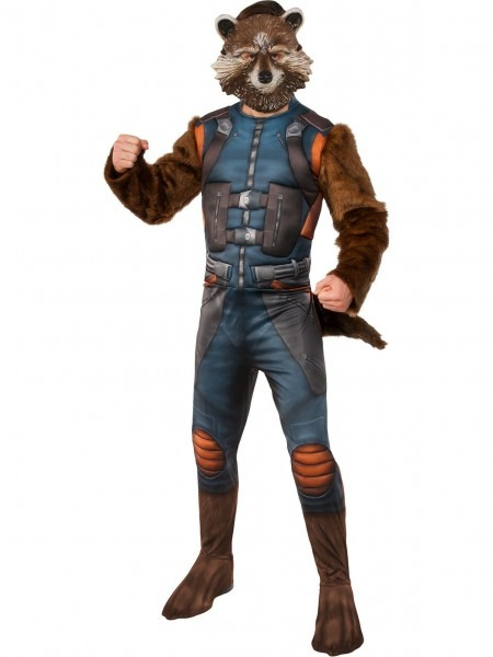Mens Muscle Chest Rocket Costume Deluxe