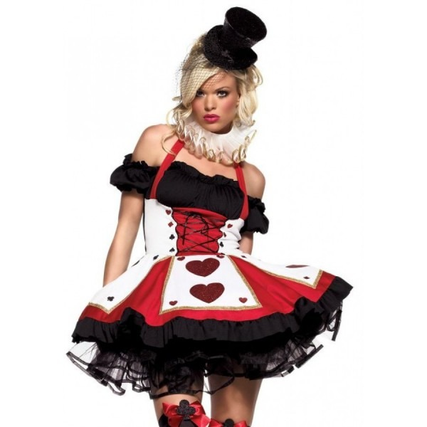 Pretty Playing Card Adult Queen Of Hearts Costume